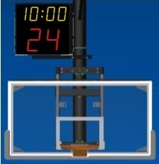 Shotclock mounting bracket